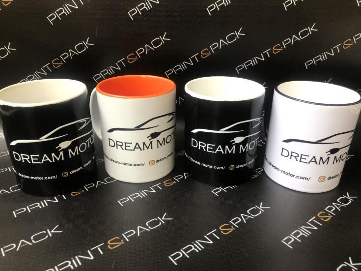уф-печать логотипа на керамических чашках